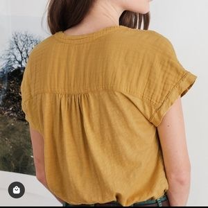 Mustard yellow cotton blouse from Velvet